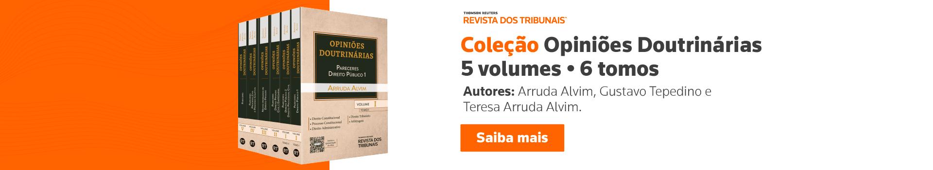 Coleção Opiniões Doutrinárias - 5 volumes