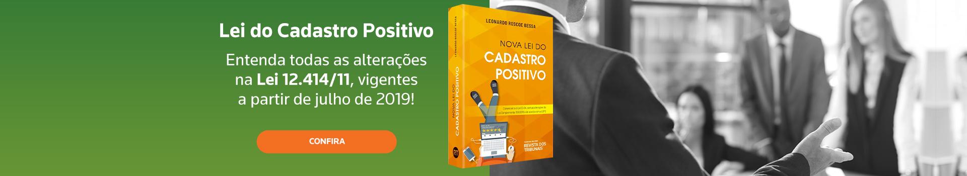 Nova Lei do Cadastro Positivo